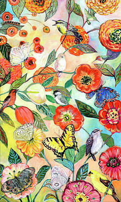 Royalty-Free and Rights-Managed Images - Birds and Butterflies Digital Collage by Jennifer Lommers