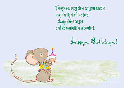 Animal Portraits - Birthday  Blow Out Your Candle by Sandra Clark