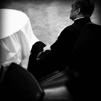 Frank J Casella Royalty-Free and Rights-Managed Images - Bishop Prays the Rosary by Frank J Casella