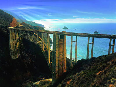 Design Pics - Bixby Bridge Big Sur - 2 by Christina Ford