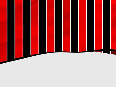 Sports Royalty-Free and Rights-Managed Images - Black And Red Stripes Of Sportive Fashion by Alberto RuiZ