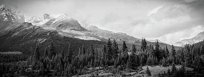 License Plate Skylines And Skyscrapers Rights Managed Images - Black And White Icefields Parkway Landscape Royalty-Free Image by Dan Sproul
