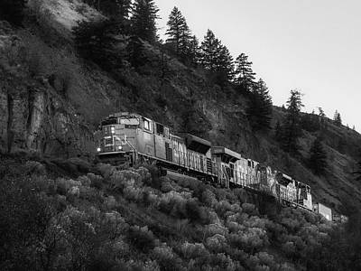 Photograph - Black And White Locomotive by Keith Boone
