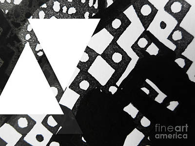 Painting - Black and White Painting-12 by Katerina Stamatelos