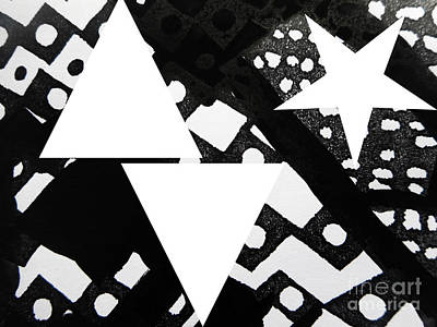 Painting - Black and White Painting-13 by Katerina Stamatelos