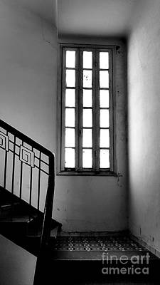 Mannequin Dresses - Black and White - Staircase in old Eclectic House by Rita Kapitulski