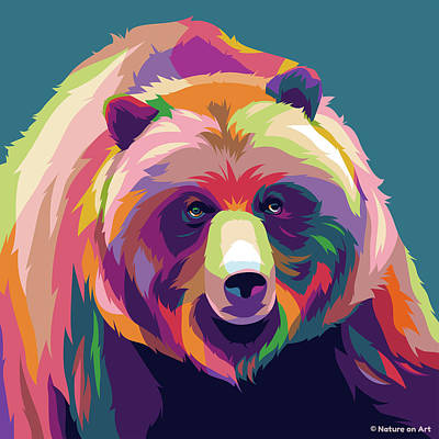 Royalty-Free and Rights-Managed Images - Black bear by Stars on Art