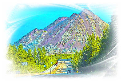 Target Threshold Nature - Black Butte Mountain Watercolor by Joyce Dickens