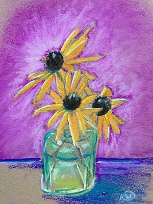 Pastel - Black Eyed Susans 1 by Karen Wysopal
