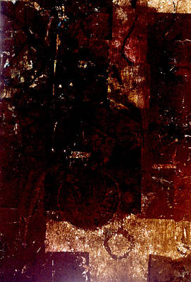 Painting - Black Gold Backlight by Todd Krasovetz