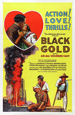 Royalty-Free and Rights-Managed Images - Black Gold movie poster 1927 by Stars on Art
