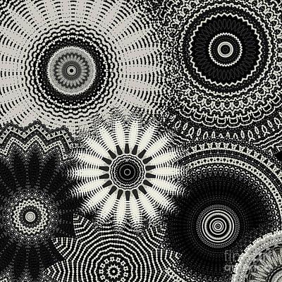 Rose - Black Grey Multi Mandala by Sheila Wenzel