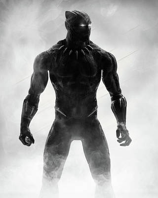 Photograph - Black Panther Action Figure by Lance Reis