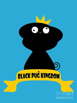 Royalty-Free and Rights-Managed Images - Black Pug Kingdom by Zaira Dzhaubaeva