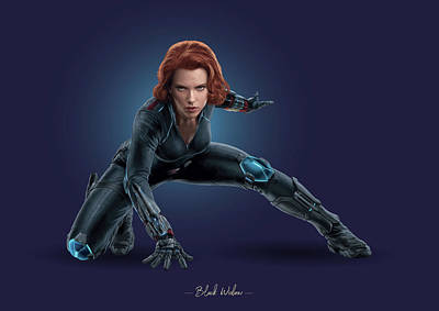 Royalty-Free and Rights-Managed Images - Black Widow - Marvel by Samuel Whitton
