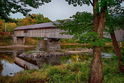 Fruits And Vegetables Still Life - Blair Bridge in Fall - Campton, NH by Joann Vitali