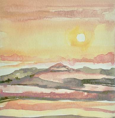 Open Impressionism California Desert - Blazing Sands by Luisa Millicent