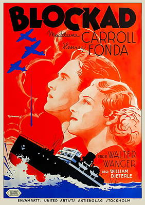 Royalty-Free and Rights-Managed Images - Blockade, with Henry Fonda and Madeleine Carroll, 1938 by Stars on Art