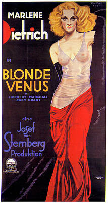 Mixed Media Royalty Free Images - Blonde Venus movie poster 1932 Royalty-Free Image by Stars on Art