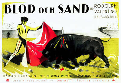 Mixed Media Royalty Free Images - Blood and Sand, with Rudolph Valentino, 1922 Royalty-Free Image by Stars on Art