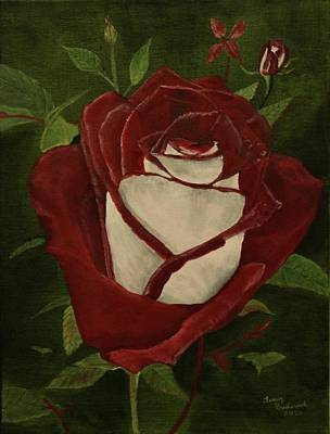 Painting - Blood Rose by Terry Frederick