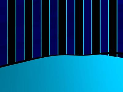 Sports Royalty-Free and Rights-Managed Images - Blue And Black Stripes by Alberto RuiZ