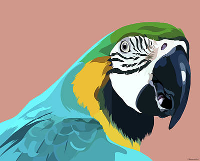 Royalty-Free and Rights-Managed Images - Blue and Gold Macaw by Stars on Art
