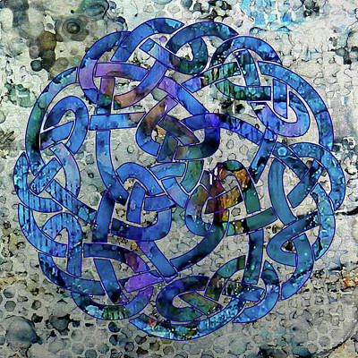 Digital Art - Blue Celtic Knot by Sarajane Helm
