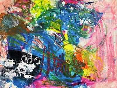 Mixed Media Royalty Free Images - Blue Circles Royalty-Free Image by Sarah Fox Wangler