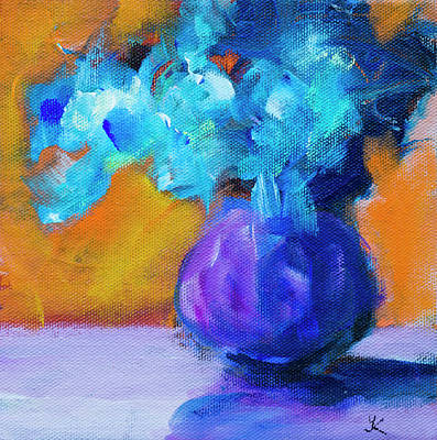 Still Life Royalty-Free and Rights-Managed Images - Blue Flowers by Yulia Kazansky