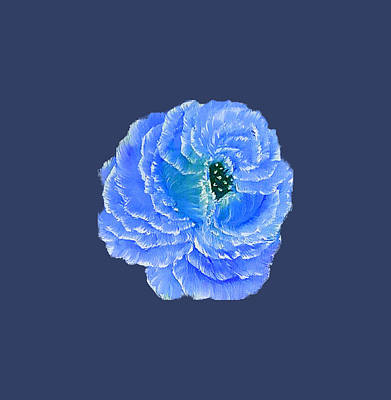 Farmhouse Rights Managed Images - Blue fragrance rose on deep blue  Royalty-Free Image by Angela Whitehouse