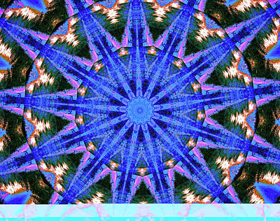 Grace Kelly - Blue Frequencies of Nature Mandala by Lucia Vega
