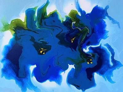 Granger - Blue Gentian Flowers by Neli Stoyanova