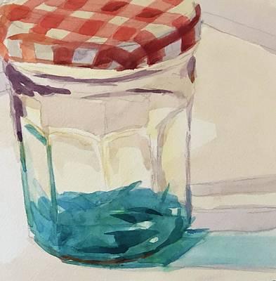 Painting - Blue Goo by Jo Mackenzie