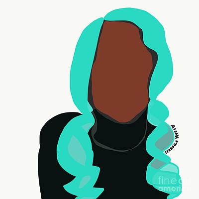 Digital Art - Blue Hair I by Aisha Isabelle