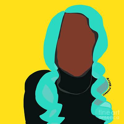 Digital Art - Blue Hair II by Aisha Isabelle