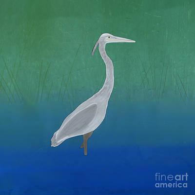American West - Blue Heron by Priscilla Wolfe