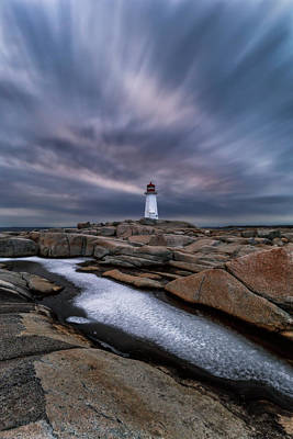 Grateful Dead - Blue hour and ice at Peggys Cove by Murray Rudd