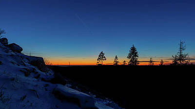 Abstract Works - Blue Hour at the Achtermann, Harz Mountains by Andreas Levi