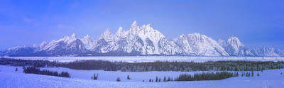 David Bowie Royalty Free Images - Blue Hour in the Tetons Royalty-Free Image by Darren White