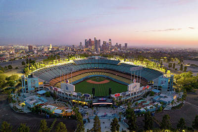 Rabbit Marcus The Great - Blue hour over Dodger Staduim by Josh Fuhrman