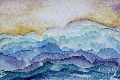 Ps I Love You - Blue Layers  by Patty Donoghue