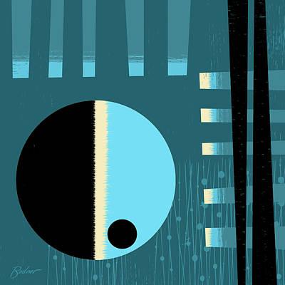 Digital Art - Blue Moment by Alan Bodner
