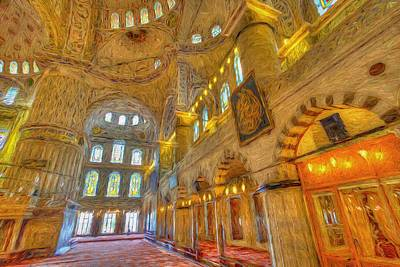 Truck Art Rights Managed Images - Blue Mosque Istanbul Art Royalty-Free Image by David Pyatt