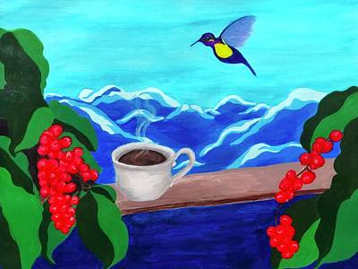 Painting - Blue Mountain Coffee by Dara Thomson