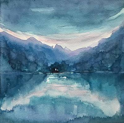 Giuseppe Cristiano - Blue Reflection.  by Luisa Millicent