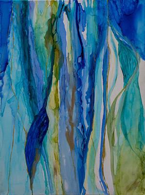 Painting - Blue Rhythms 1 by Mary Benke
