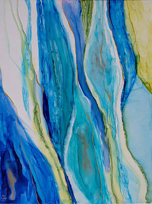Painting - Blue Rhythms 2 by Mary Benke