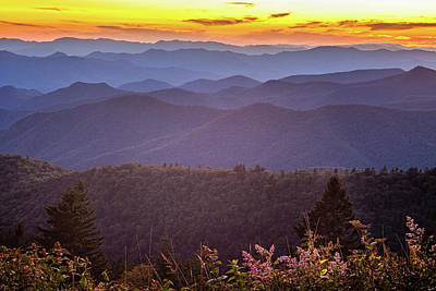 Royalty-Free and Rights-Managed Images - Blue Ridge Sunset by Andrew Soundarajan