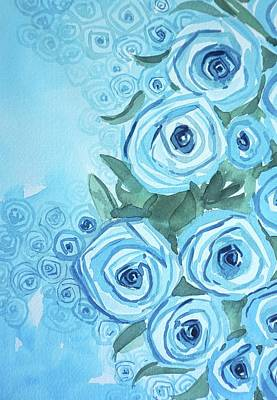 Urban Abstracts Royalty Free Images - Blue Roses Royalty-Free Image by Luisa Millicent